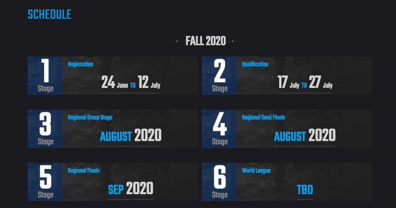 PMCO Fall Split 2020 Full Schedule Announced