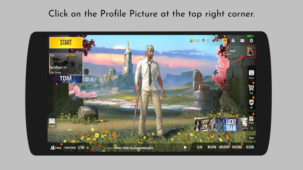 PUBG Mobile Lite Home Screen - PlayerZon