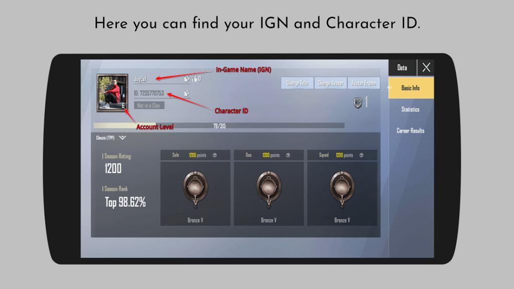 PUBG Mobile Lite Profile PlayerZon