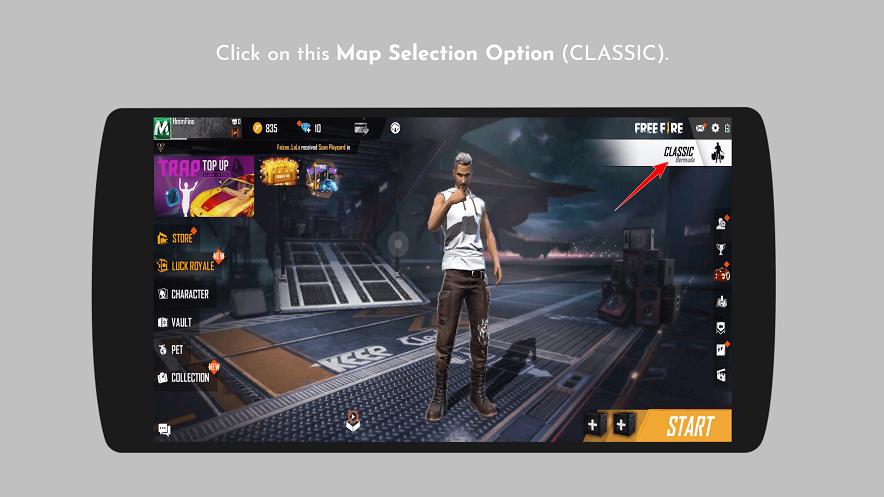 FreeFire Match Making Option - PlayerZon