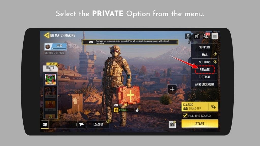 Join Private Custom Room in COD Mobile