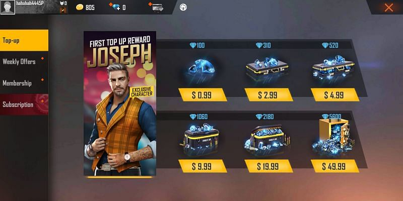 How to get Diamonds in Free Fire?