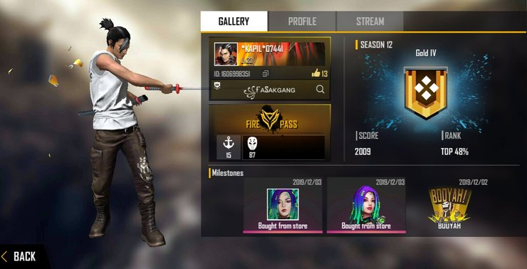 Recover loast free fire ID