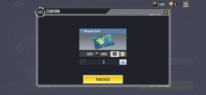 Change name in COD MObile