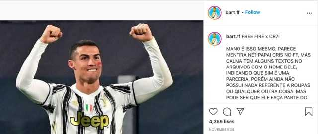 New character Ronaldo in Free fire