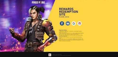 Free Fire Redeem code