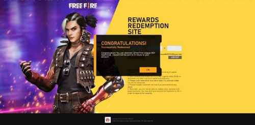 Redeem code of Free Fire
