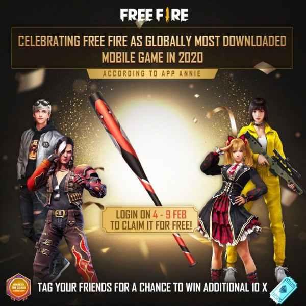free fire cobra baseball skin for free