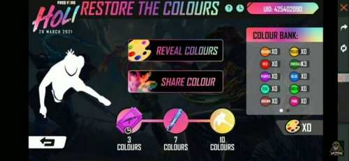 Restore The colours