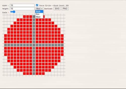 DonatStudios Pixel circle generator