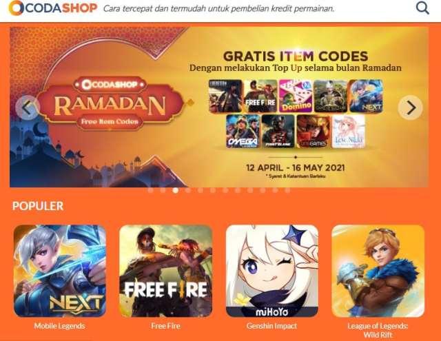 Use Codashop site