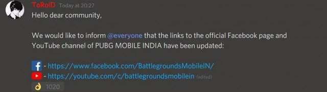 URL of social media platforms Changed
