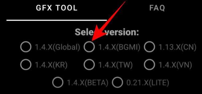 Select BGMI version