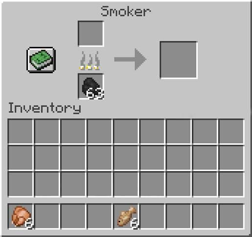 Use Smoker in minecraft
